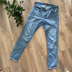 Banana Republic Blue Skinny Jeans with Raw Hem